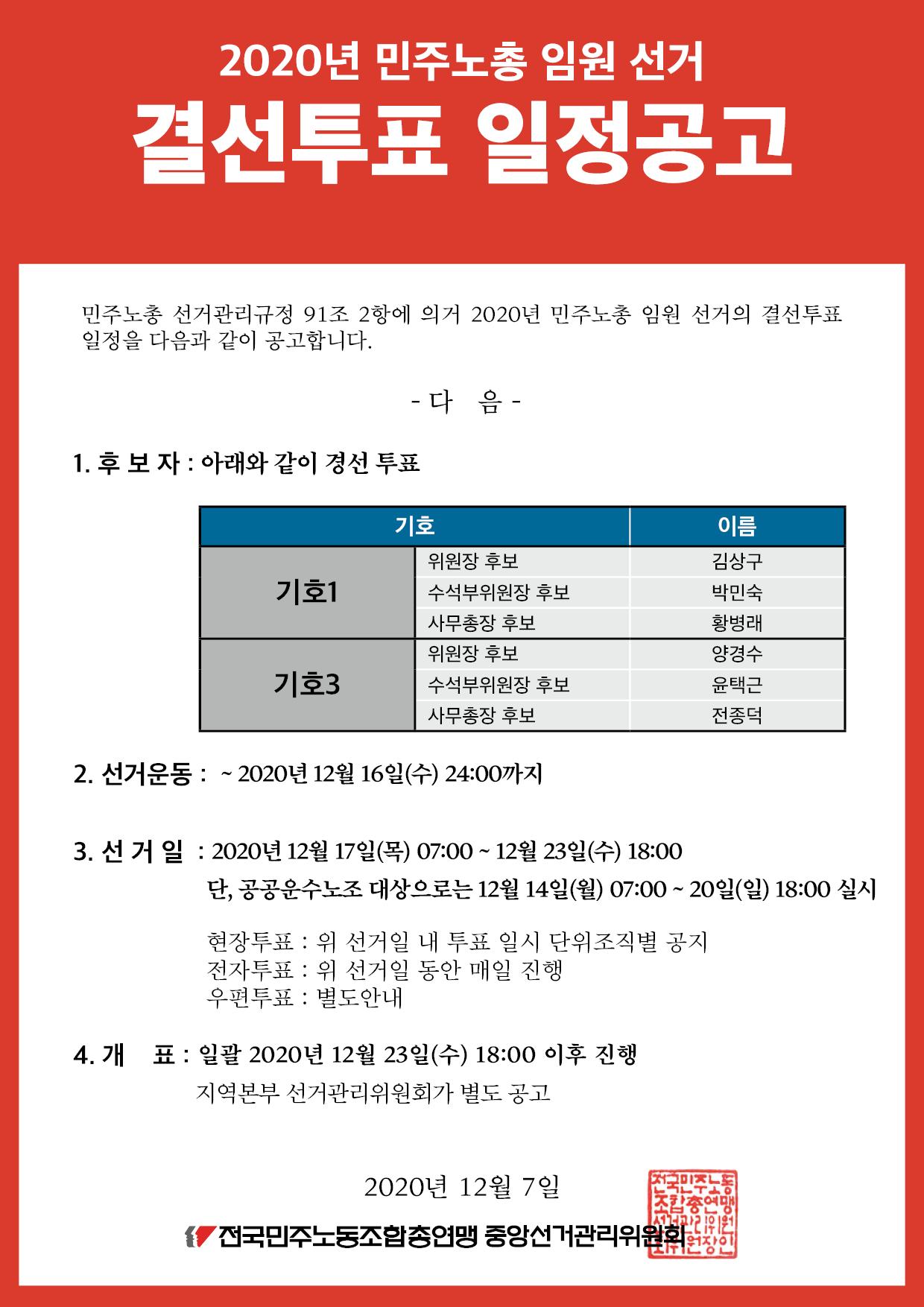 1. 결선투표 일정공고_민주노총임원선거.png
