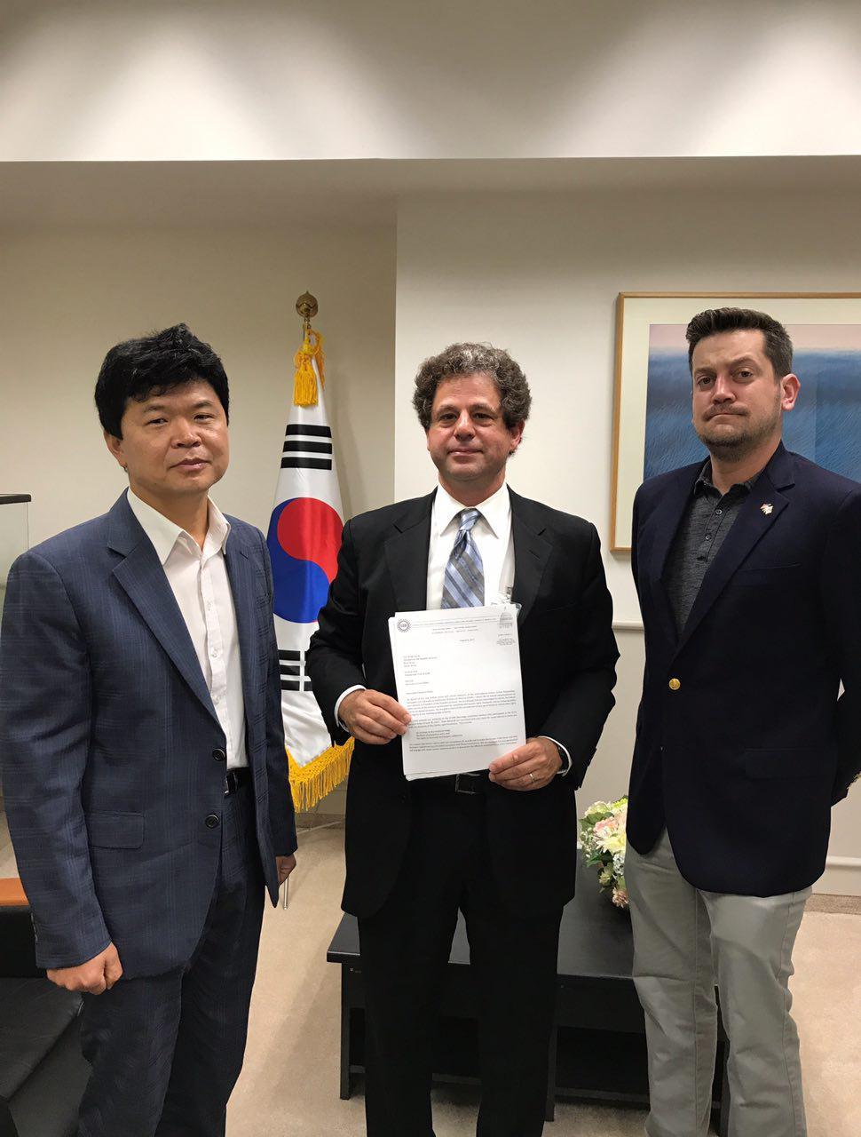 전미자동차노조 주미한국대사관에 석방촉구서한전달.jpg