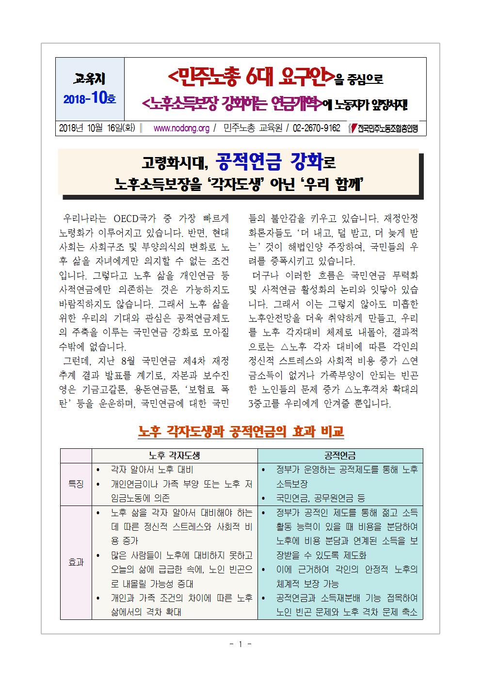 [2018 교육지-10] 국민연금 개혁 6대 요구안001.png